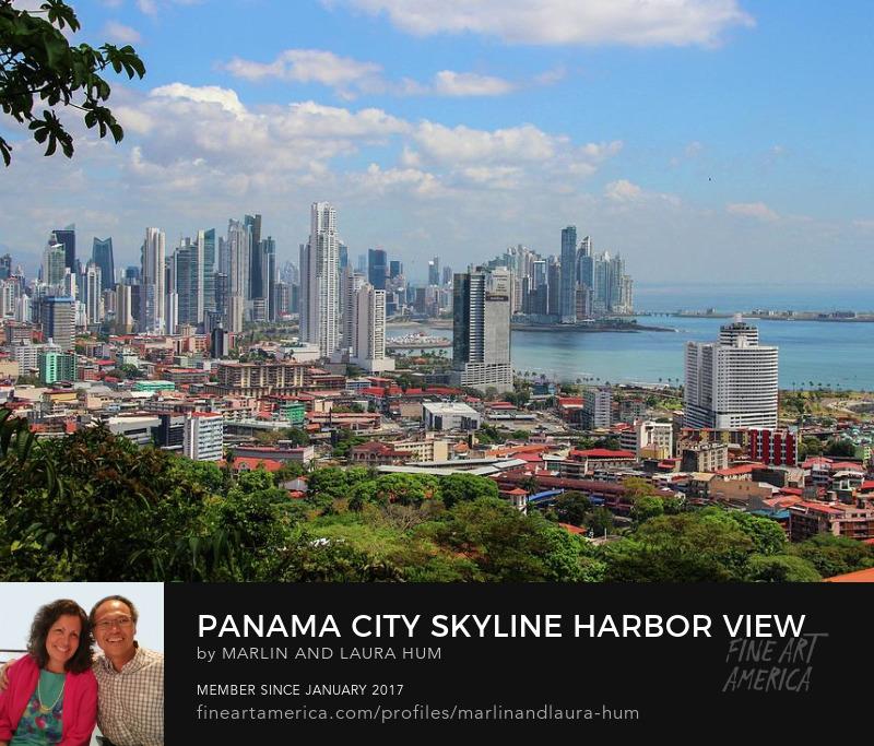 Panama City Skyline Harbor view from Ancon Hill Marlin Hum
