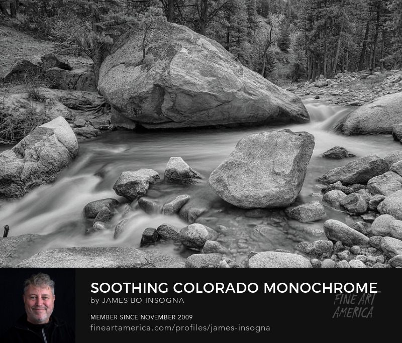 Colorado Monochrome Soothing Wilderness Canyon Photography Prints