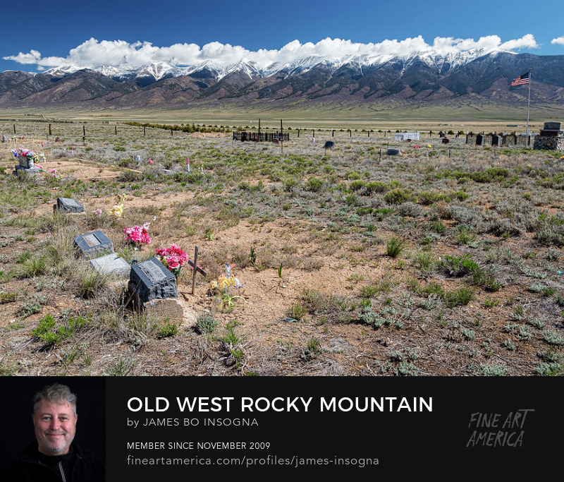 Rocky Mountain Old West Cemetery View Art Prints