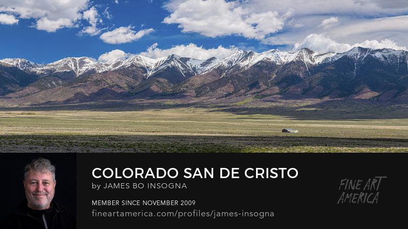 San de Cristo Mountains Panorama View Photography Art Prints