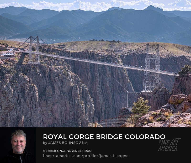 Royal Gorge Bridge View Art Prints