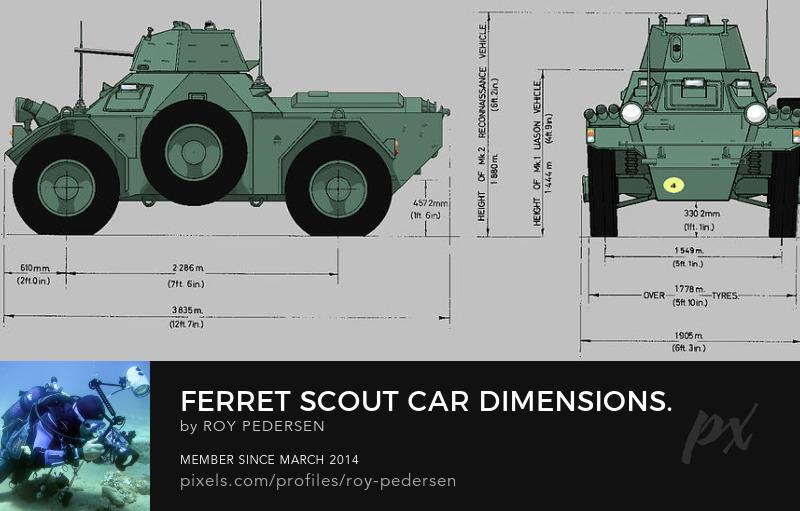 Ferret Scout Car a Coffee Mug armed forces military roy pedersen