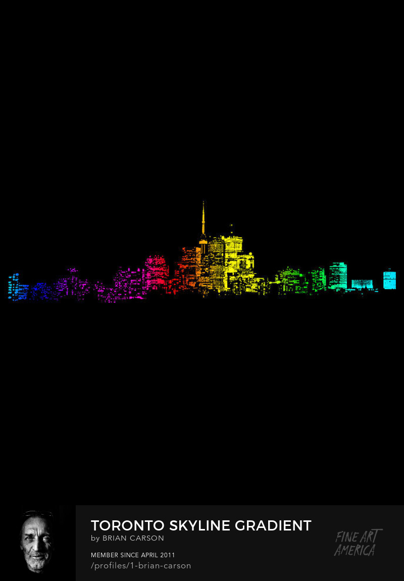 Toronto Skyline Gradient on Designer Prints by Brian Carson of The Learning Curve Photography