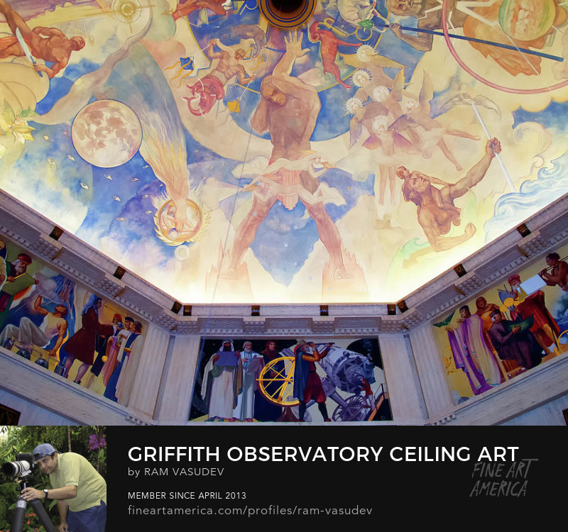 Griffith Observatory Ceiling Art by Ram Vasudev