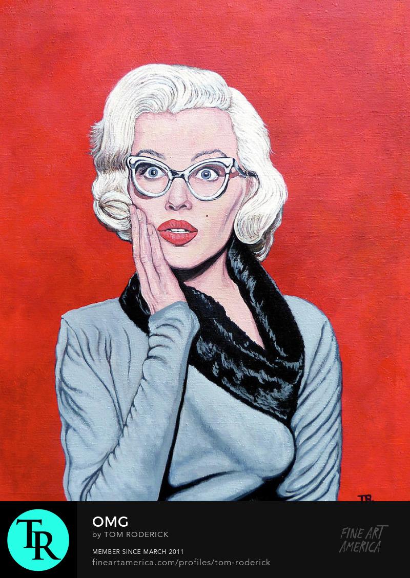 Portrait of Marilyn Monroe by Boulder portrait artist Tom roderick