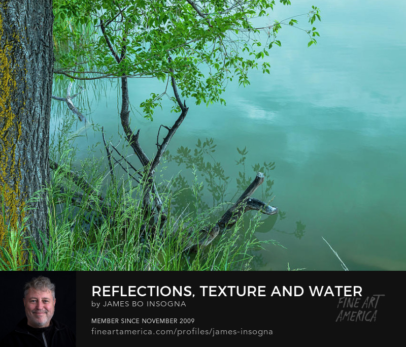 Enchantment Reflections, Texture And Water Art Prints
