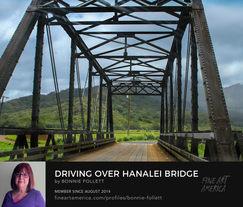 Driving Over Hanalei Bridge