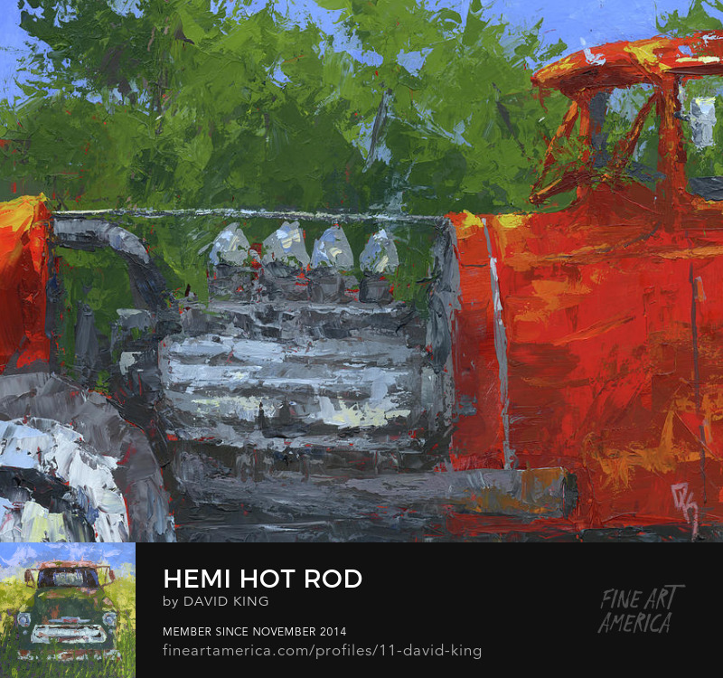 art painting hot rod abstract hemi traditional old school