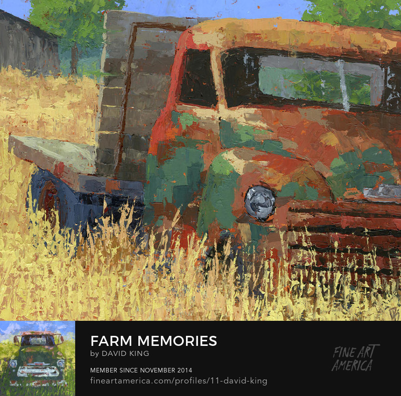 art painting truck chevy abandoned farm flatbed vintage
