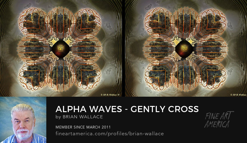 Alpha Waves - Gently cross your eyes and focus on the middle image by Brian Wallace