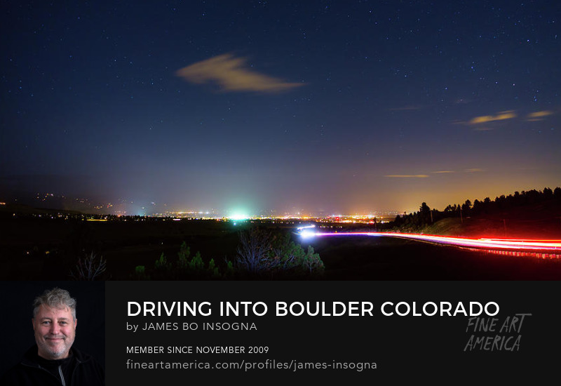 Driving Into Boulder City Lights Photography Prints