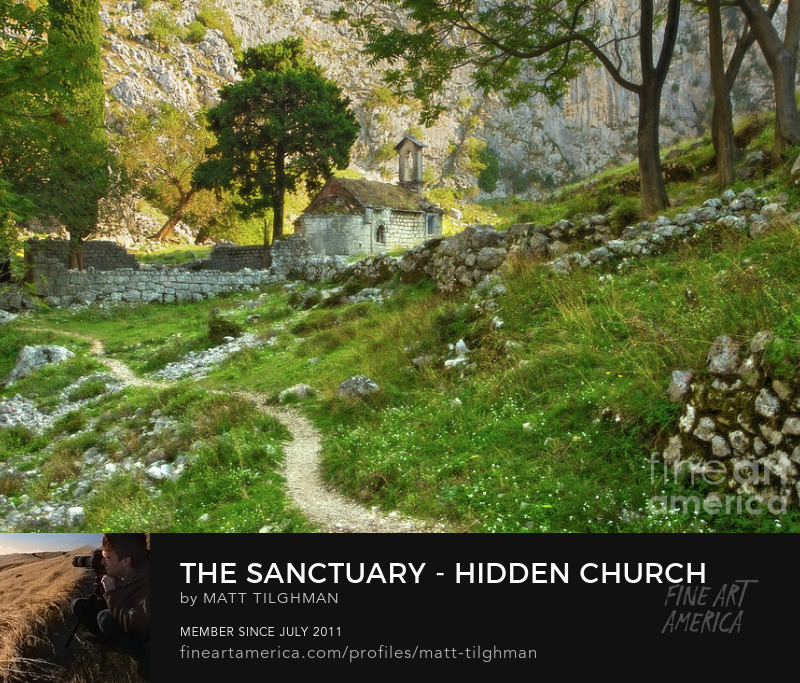 Ancient Church Montenegro Art Online