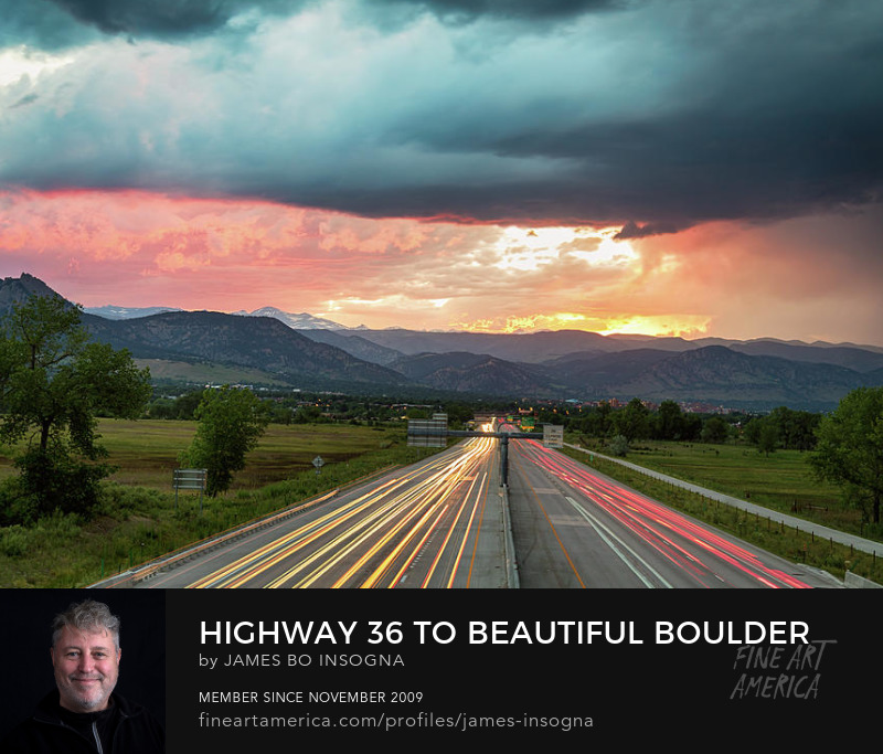 Highway 36 To Beautiful Boulder Colorado Art