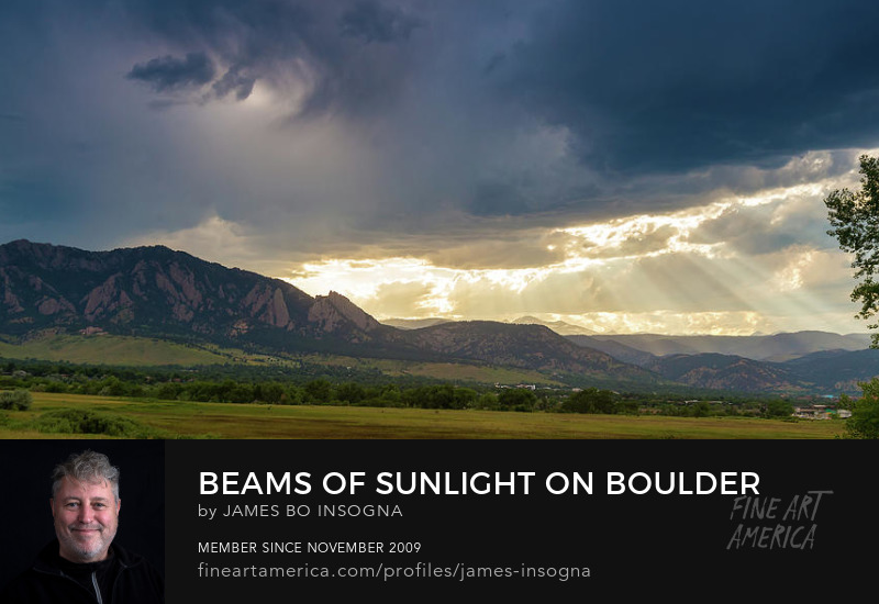 Beams Of Sunlight On Boulder Colorado Foothills Photography Prints