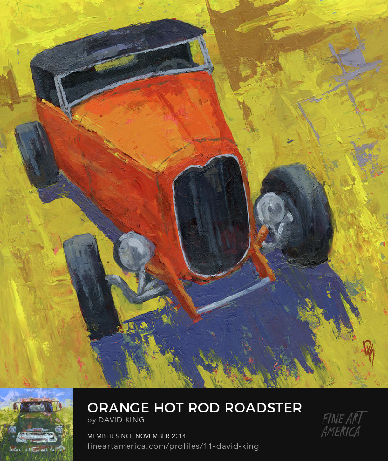 art painting automotive hot rod 1932 Ford roadster