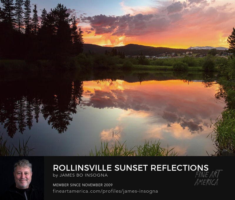 Sunset Reflections In Rollinsville Colorado Art Prints