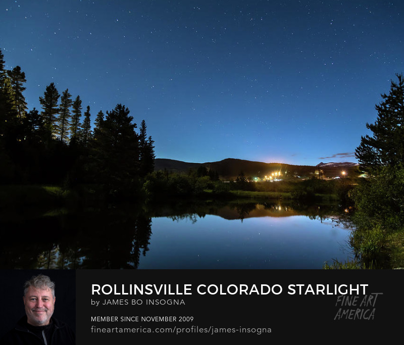 Rollinsville Colorado Starlight View Art Prints