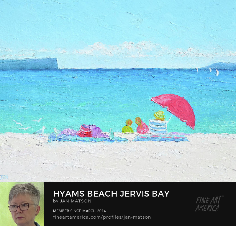 Oil painting of Hyams Beach in Jervis Bay, Australia