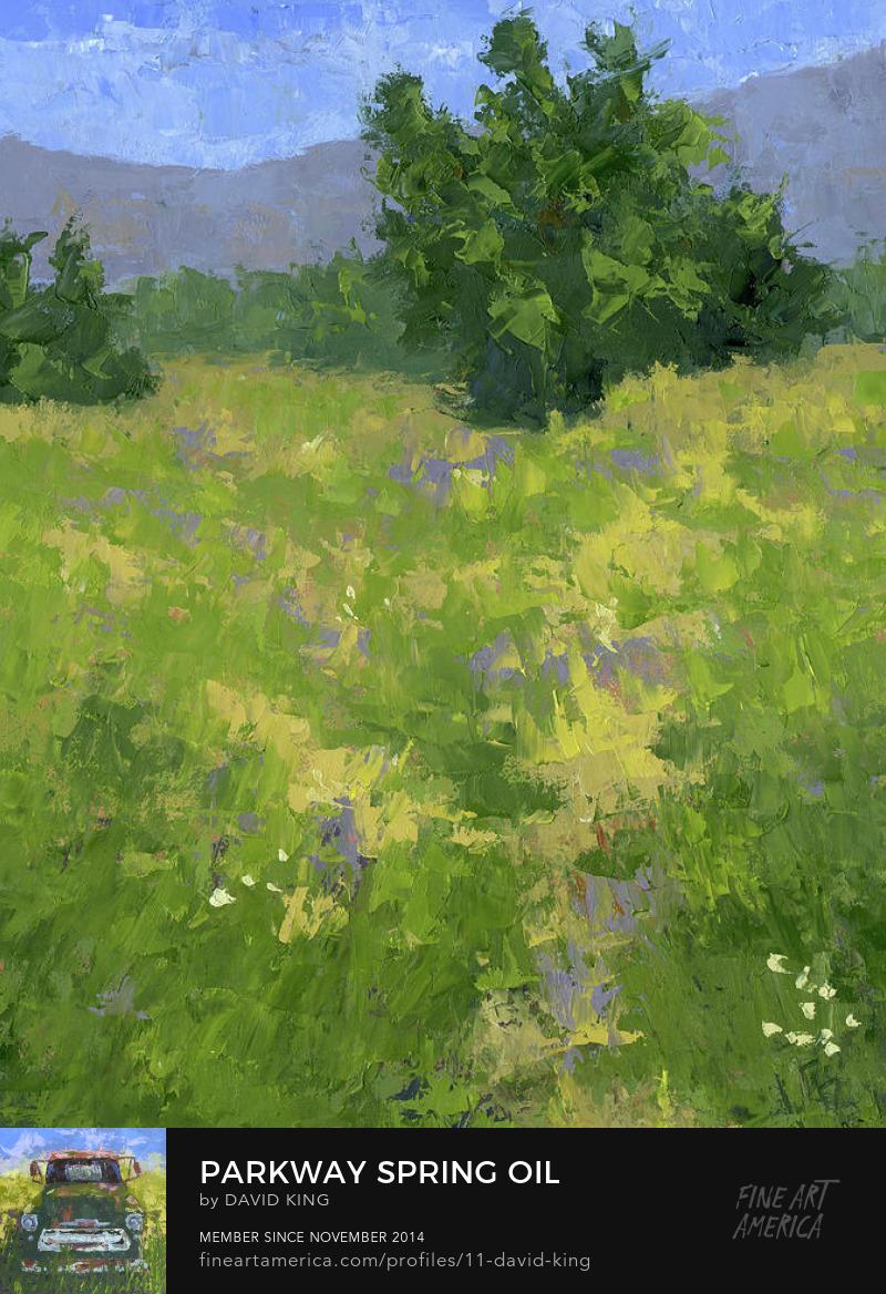 art painting landscape palette knife spring