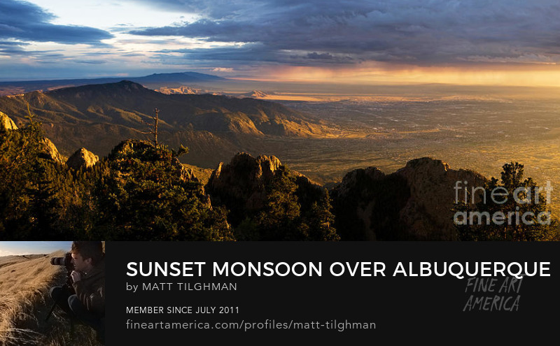 Sunset Monsoon over Albuquerque Photography Prints