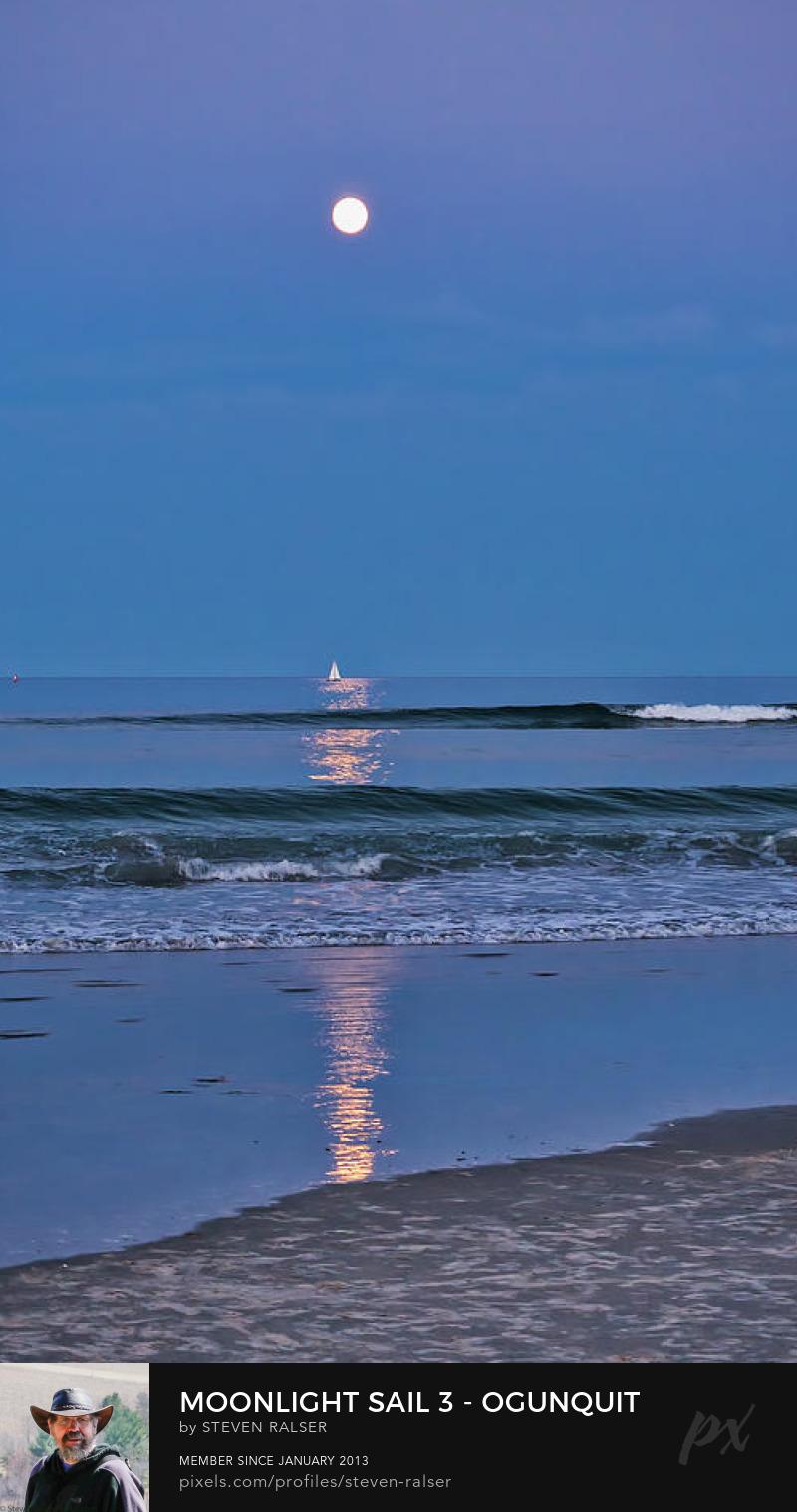 Moonlight sail, Ogunquit Beach, Maine