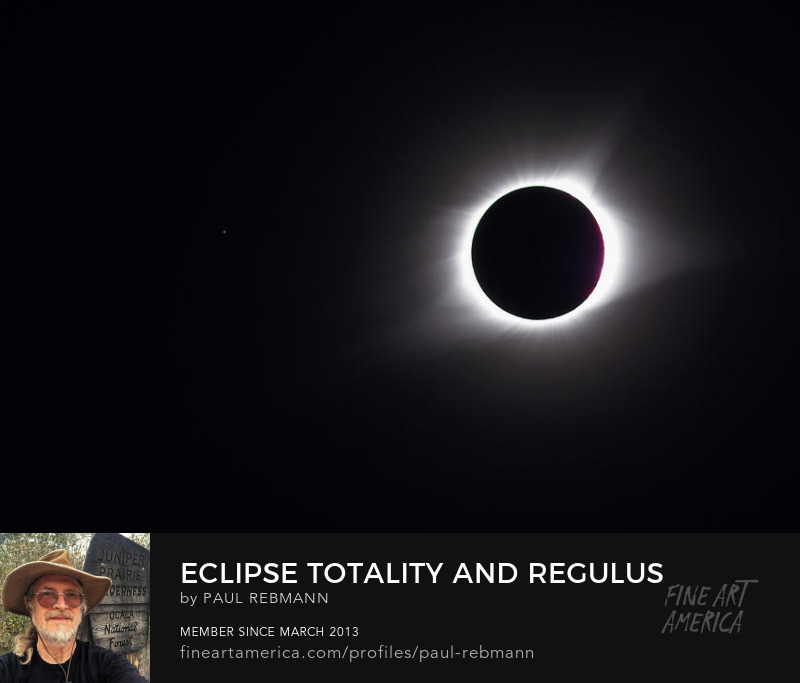 View online purchase options for Eclipse Totality And Regulus by Paul Rebmann