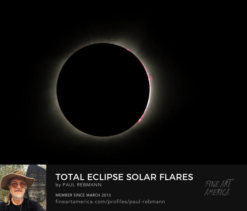 View online purchase options for Total Eclipse Solar Flares by Paul Rebmann