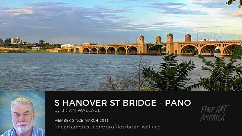 S Hanover St Bridge - Pano by Brian Wallace