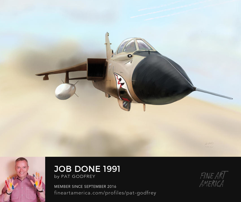 Painting of a Tornado aircraft by Pat Godfrey