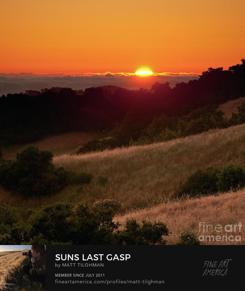 Santa Cruz Mountains Sunset Art Prints
