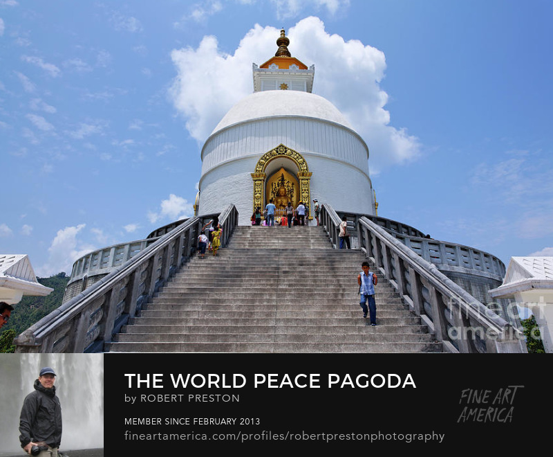 World Peace Pagoda at Pokhara Nepal