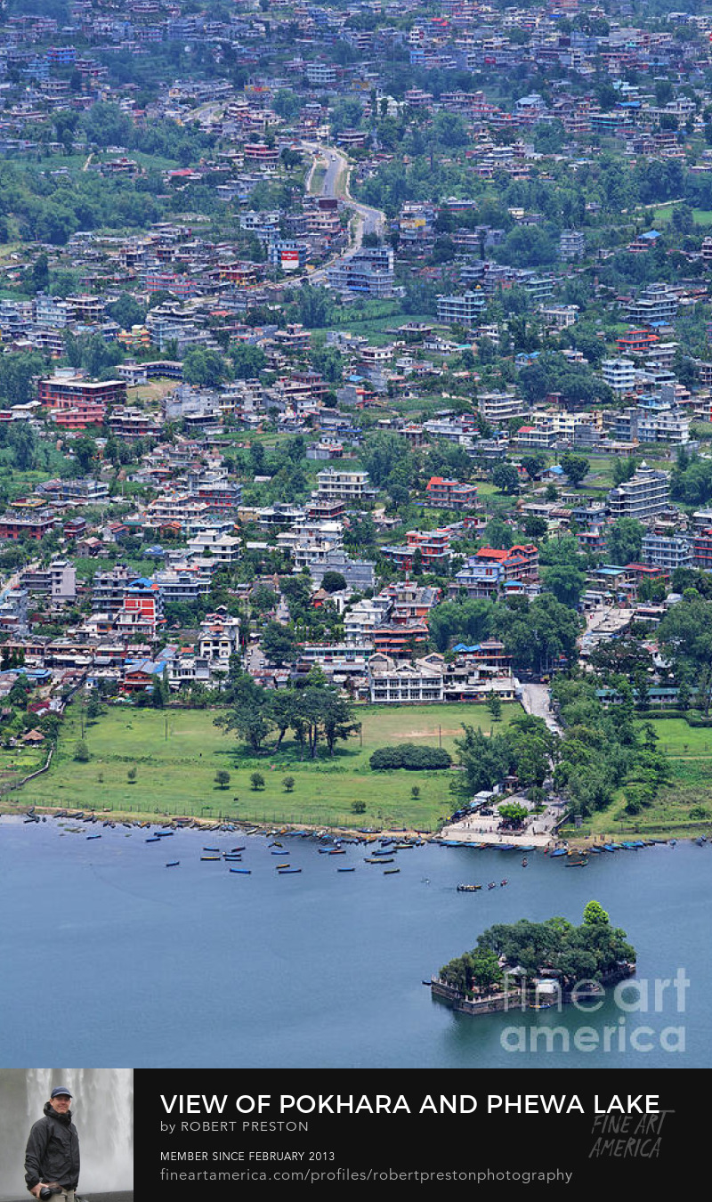 View of Phewa Lake and Pokhara