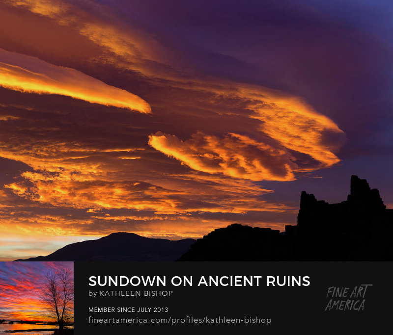 Sundown on Ancient Ruins by Kathleen Bishop Photography