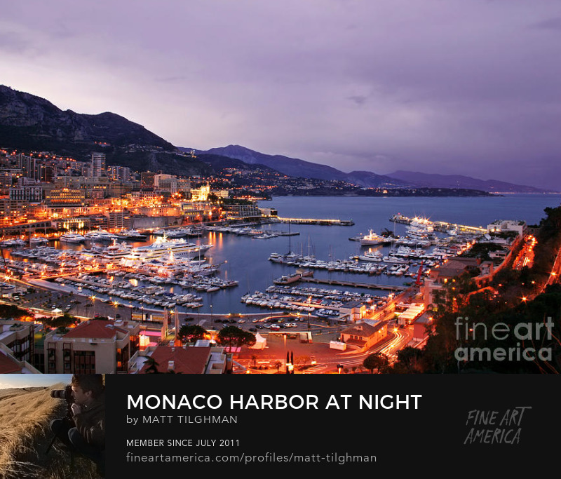 Monte Carlo at Night Art Prints