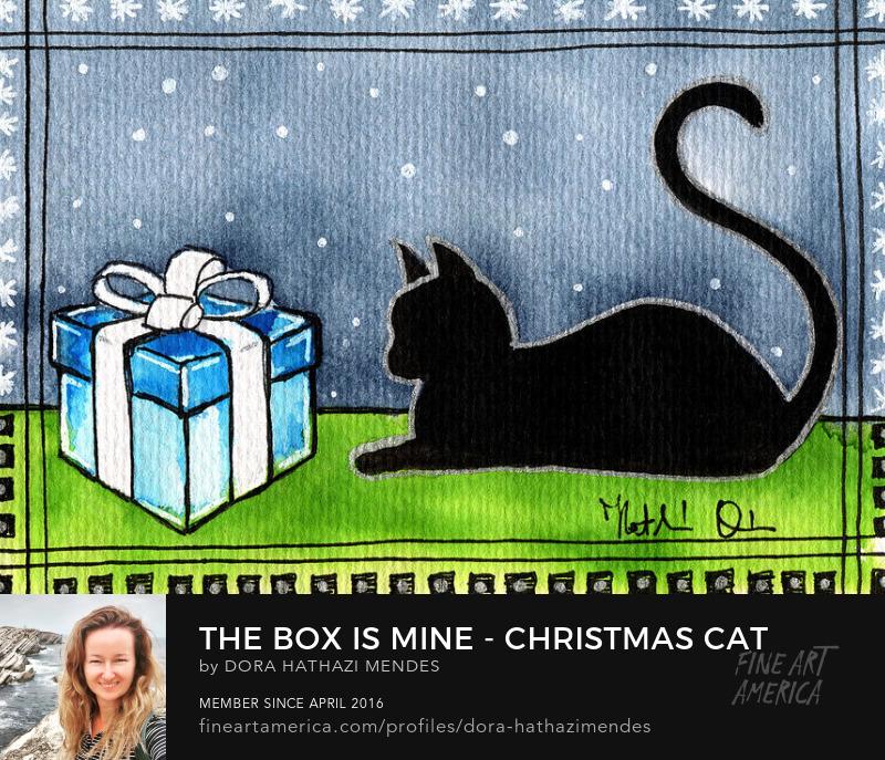 Christmas Cats art