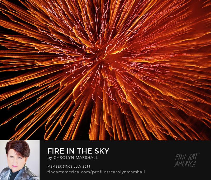 Red Fireworks Burst print for sale