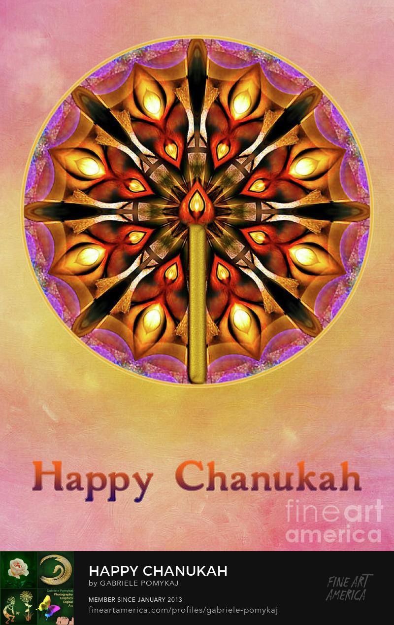 Happy Chanukah by Gabriele Pomykaj