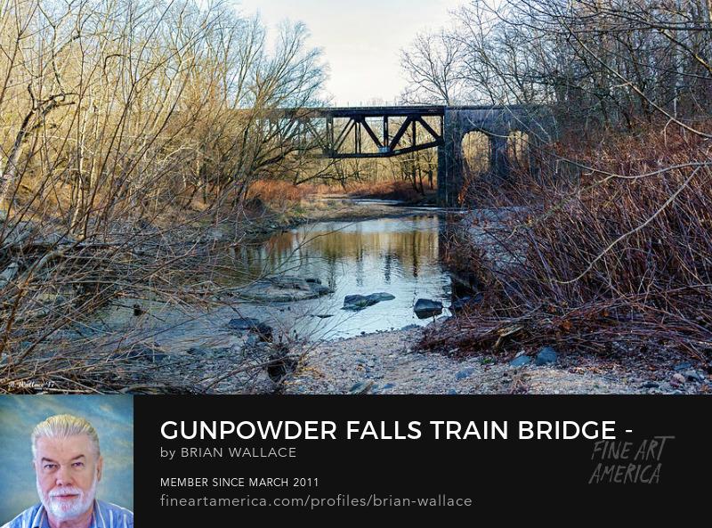 Gunpowder Falls Train Bridge - Wide View by Brian Wallace