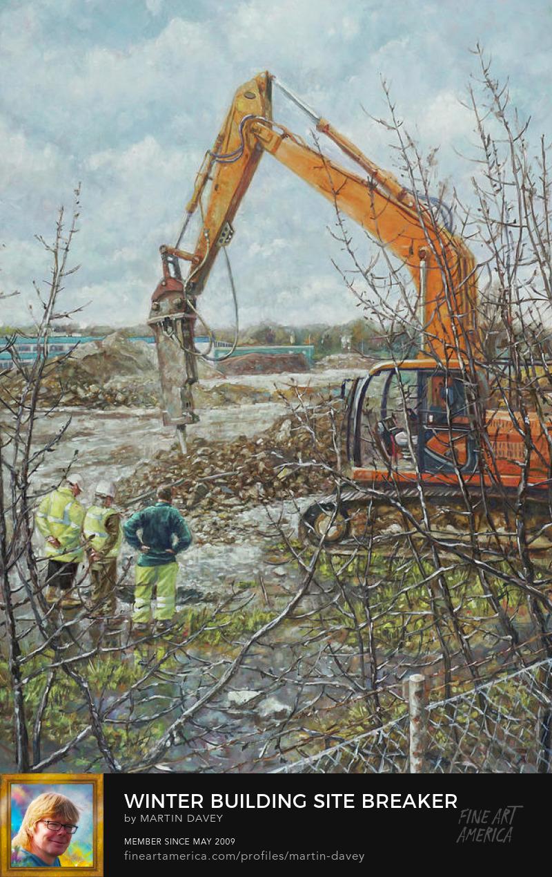 wet day construction site art