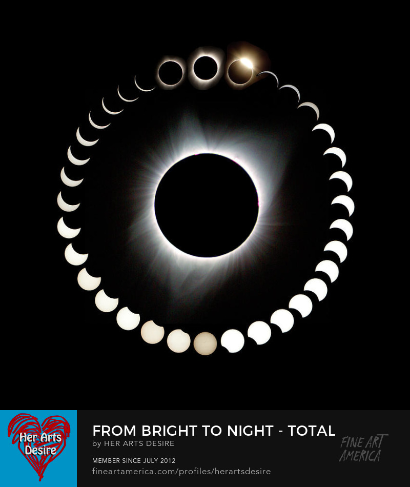 From Bright to Night - Total Solar Eclipse by Patricia Sanders