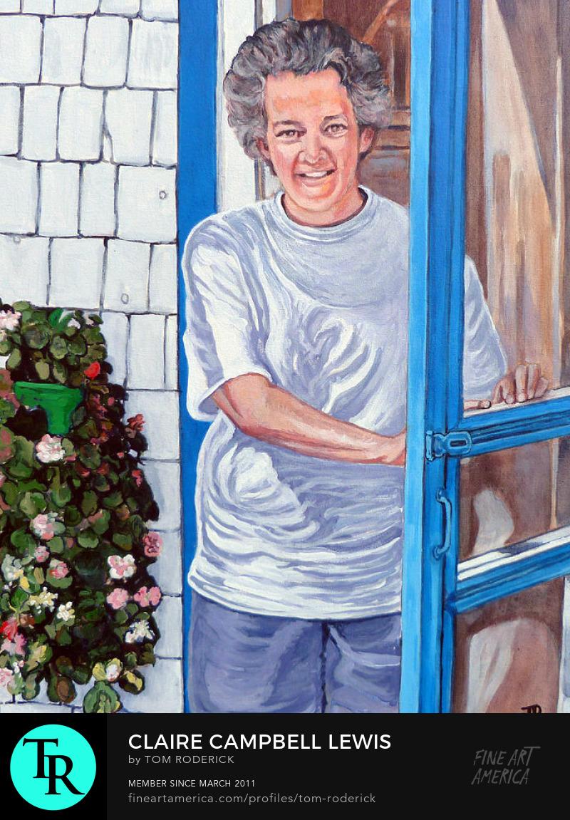 Portrait of Claire Campbell Lewis by Boulder portrait artist Tom Roderick