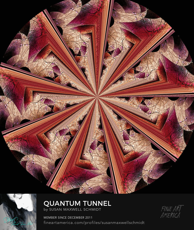 Quantum Tunnel Art Print by Susan Maxwell Schmidt