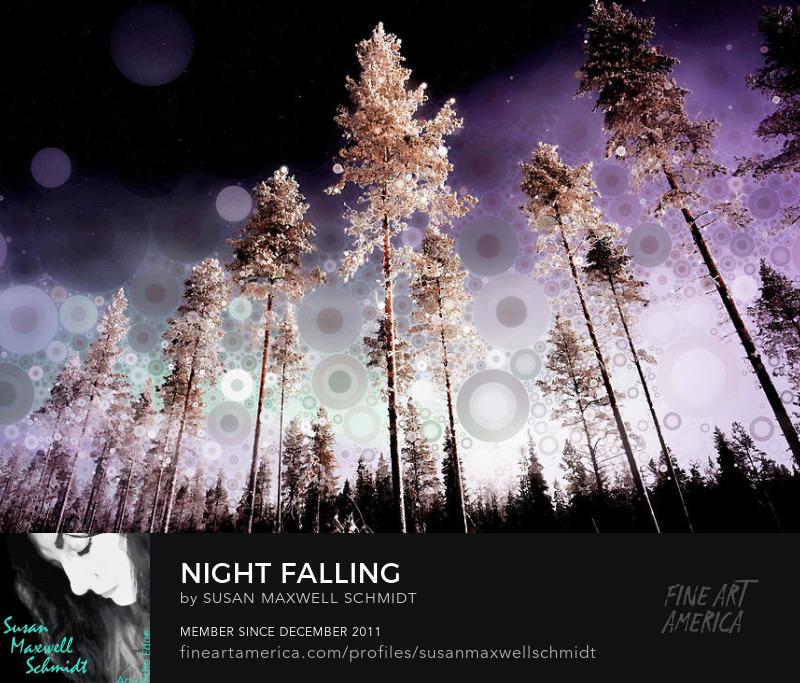 Night Falling Art Print by Susan Maxwell Schmidt