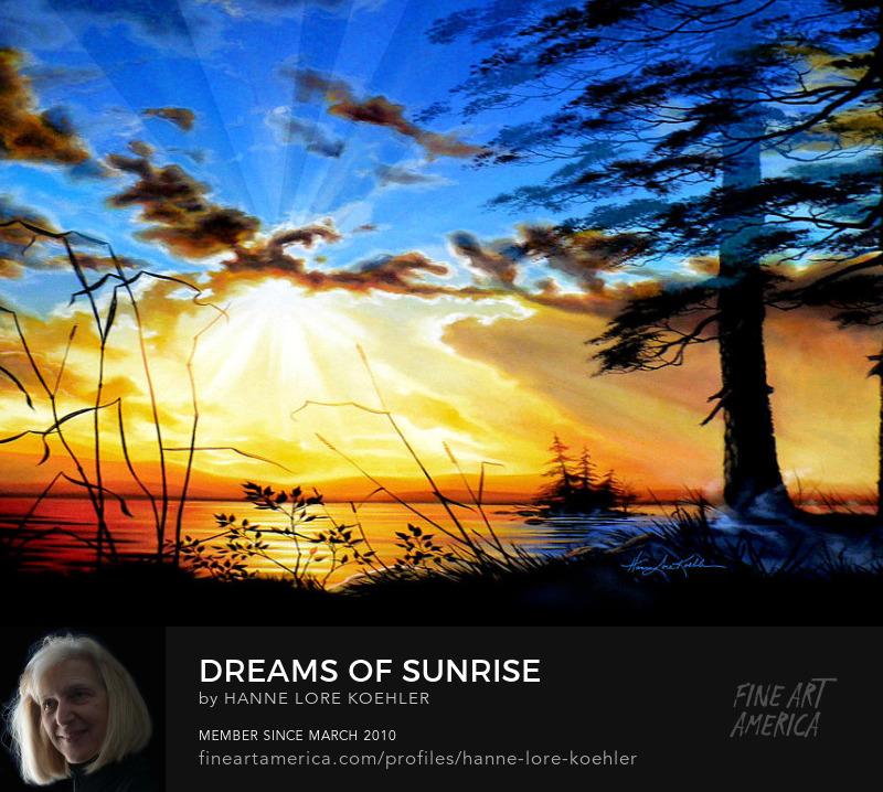 Lake Sunrise Painting