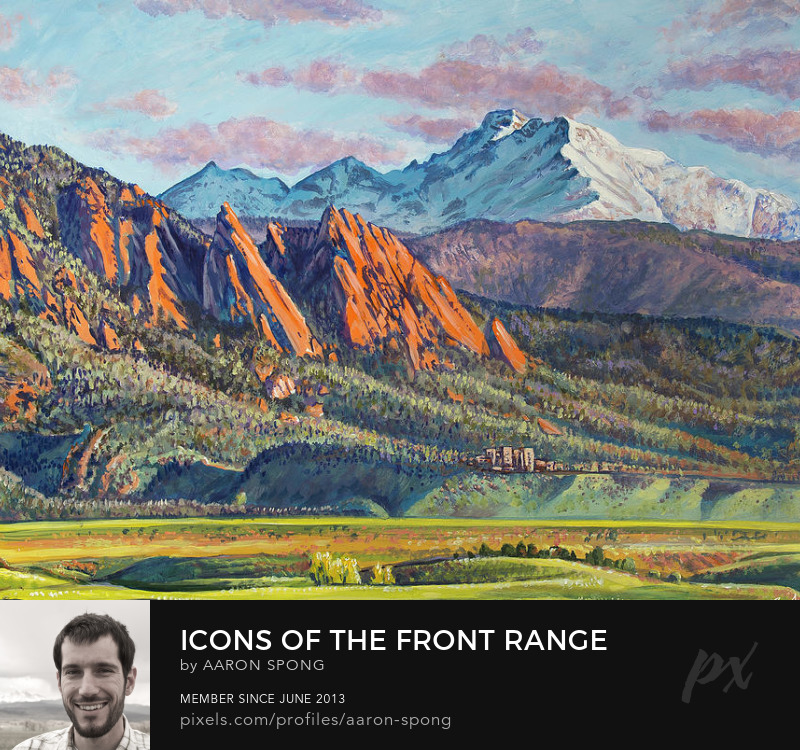 Icons Of The Front Range Painting by Aaron Spong