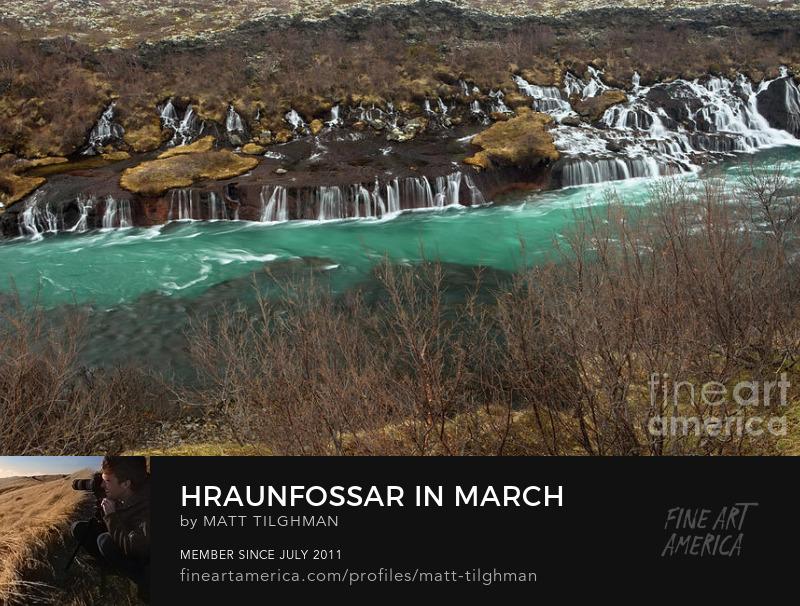 Hraunfossar Lava Falls Photography Prints