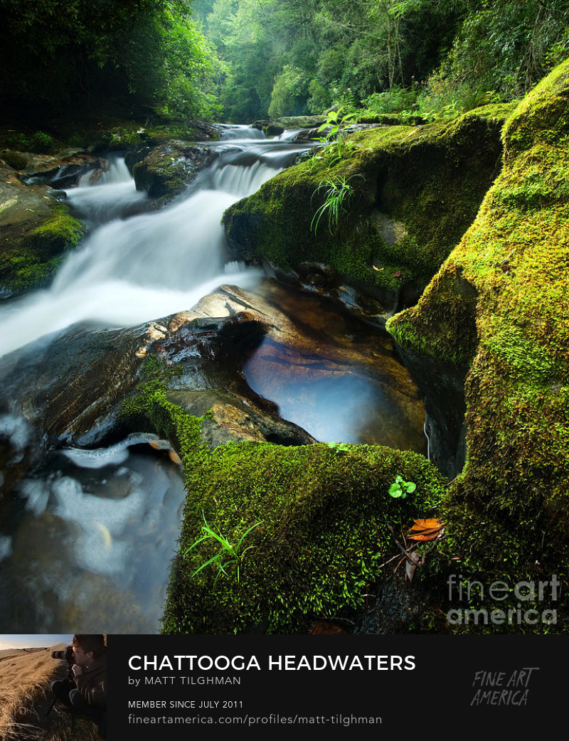 Chattooga River Headwaters North Carolina Photography Print
