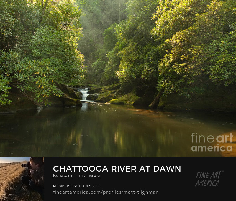 Chattooga River North Carolina Art Print