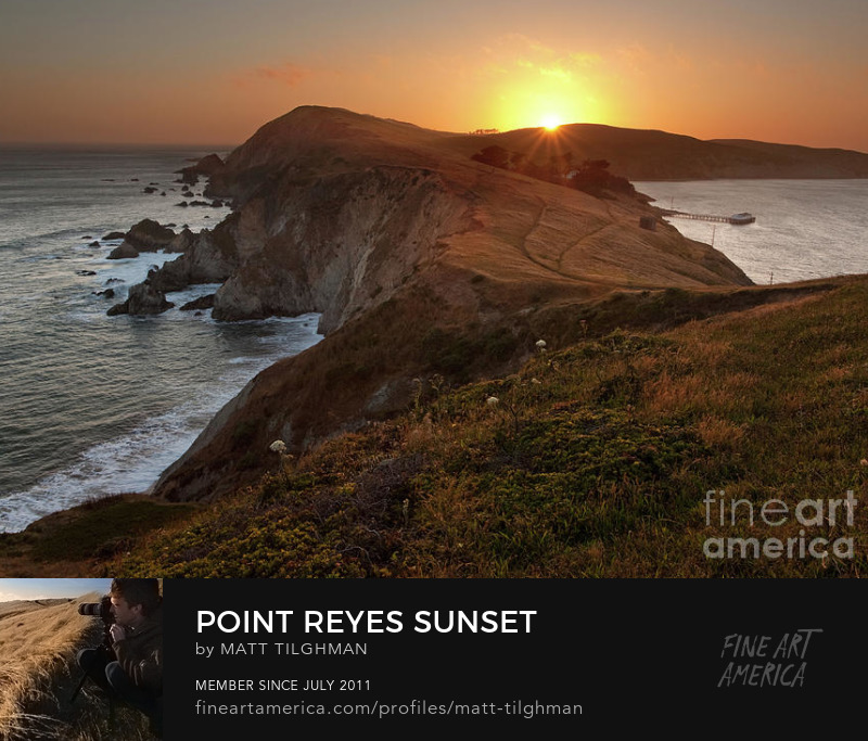 Point Reyes Sunset Photography Prints