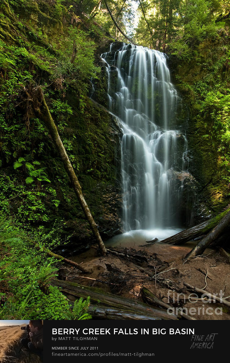 Berry Creek Falls Photography Prints